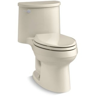Kohler K-6925 Adair 1.28 GPF One-Piece Elongated Toilet with AquaPiston Technology - Seat Included