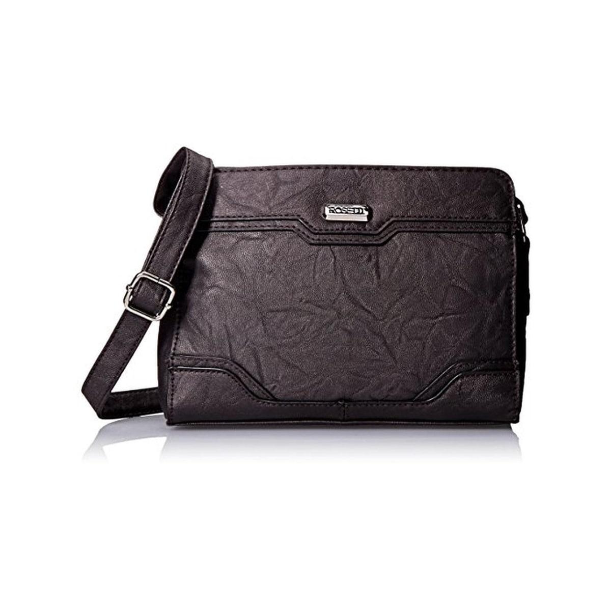 Rosetti Womens Hilary Crossbody Handbag Faux Leather Textured - MEDIUM - Thumbnail 0