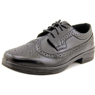 Deer Stags Ace Youth Square Toe Synthetic Black Oxford