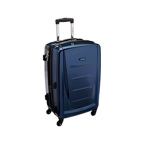 Samsonite 24 Inch Winfield 2 Fashion Spinner - Deep Blue - Checked-Medium 24-Inch