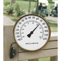 "Acurite 3.5"" Brass Thermometer"