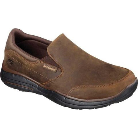 Skechers Men's Relaxed Fit Glides Calculous Slip On Dark Brown