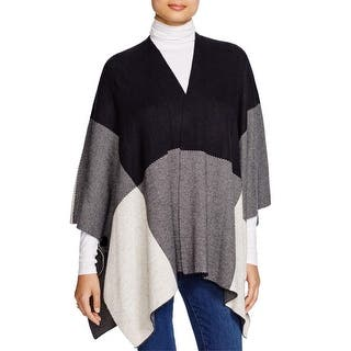 Sioni Womens Poncho Sweater Wool Colorblock|https://ak1.ostkcdn.com/images/products/is/images/direct/cf86e75d6e426b3b0a9c86ff24f4faba02d1545e/Sioni-Womens-Poncho-Sweater-Wool-Colorblock.jpg?impolicy=medium