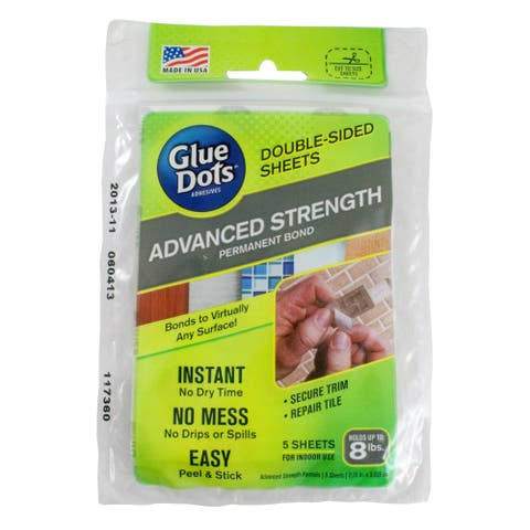 """Glue Dots 37030 Advanced Strength Adhesive, 2.75"""" x 3.6"""", 5-Count"""
