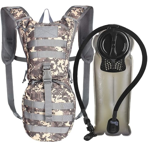 Tactical Hydration Pack Backpack 900D with 2.5L Bladder for Sports ACU