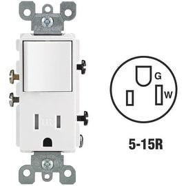 Leviton Wht 15A Tamp Swtc/Outlet