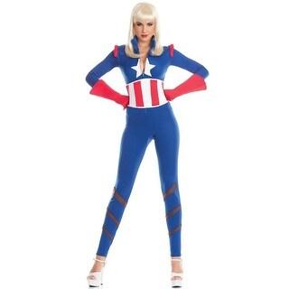 BW1667 L-XL Womens Captivating Captain Costume, 3 Piece - Large