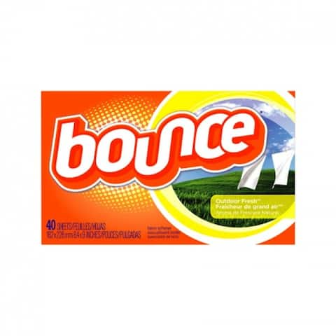Bounce 80049 Fabric Softener Dryer Sheets, Outdoor Fresh Scent, 40-Counts