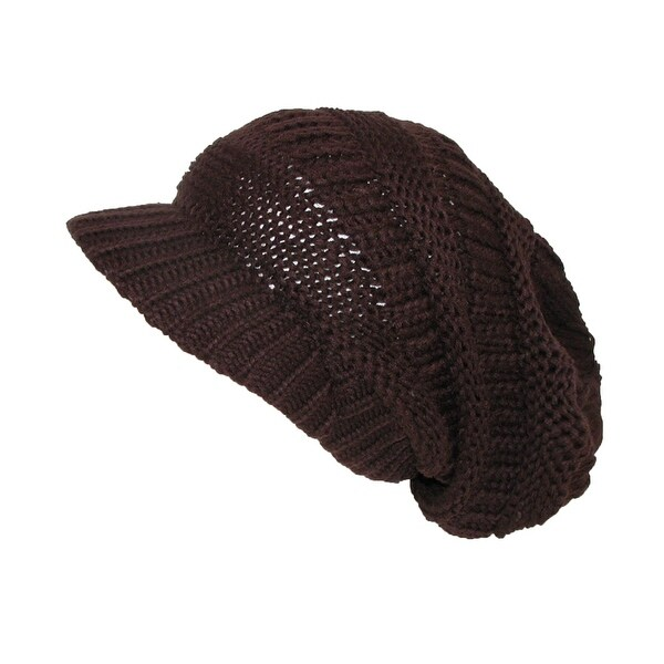 CTM® Women's Throwback Chunky Knit Slouchy Beanie Hat