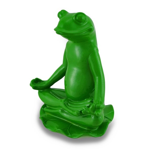 Peaceful Yoga Pose Frog Statue 9 1//2 Inch