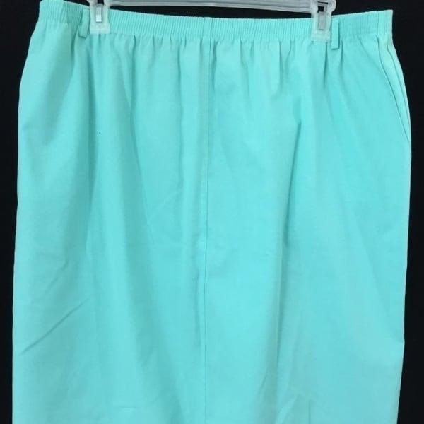 da77b5e81 Shop Alfred Dunner skirt womens size 38 plus elastic waist aqua blue - Free  Shipping On Orders Over $45 - Overstock - 23030534