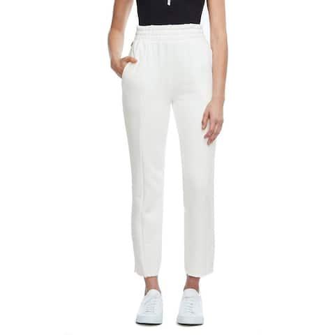 Good American Good Sweats The High Waist Sweatpants, White, 3