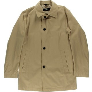 BOSS Hugo Boss Mens Partially Lined Button Front Coat