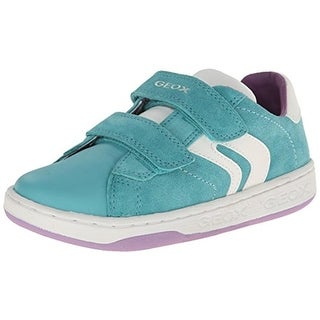 Geox Girls Jr. Mania Girl Suede Sneakers - 6.5 medium (b,m)