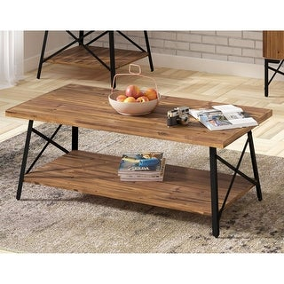 Carbon Loft Oliver Modern Rustic Wood Coffee Table