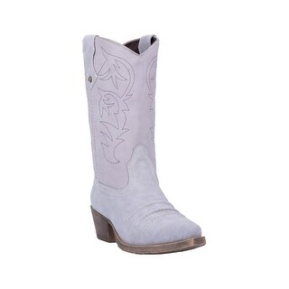 Dingo Western Boots Womens Prairie Rose Snip Toe Gray