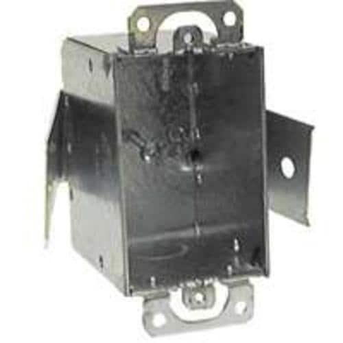 Raco 508 Single Gang Switch Box, Steel, 5 x 2-1/2