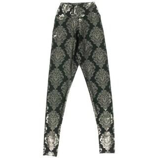 Material Girl Womens Juniors Metallic Flat Front Leggings - XS