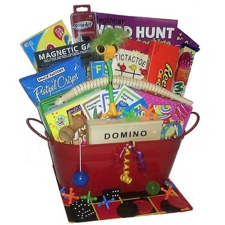 Kids Fun Game and Snack Activity Basket