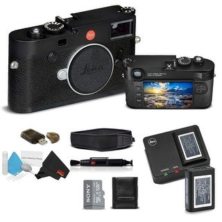 Leica M10 Digital Rangefinder Camera (Black) With Sony 128GB Memory Card Bundle
