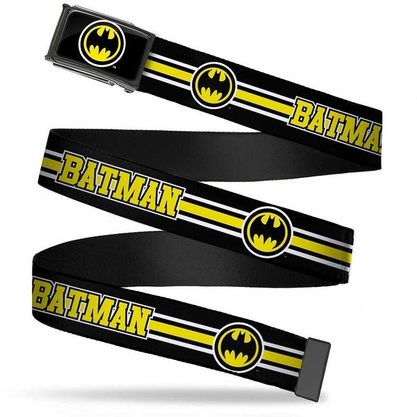 Bat Signal Fcg Black White Yellow Bo Black Batman Bat Signal Triple Web Belt