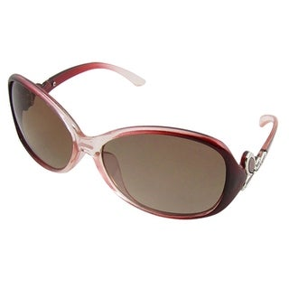 UV Protection Sunglasses w Clear Frame Butterfly Decor