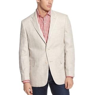Tommy Hilfiger Cornwall Light Gray Linen Sportcoat 36 Regular 36R Blazer