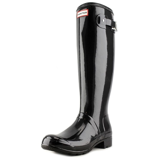 Hunter Org Tour Gloss Women Round Toe Synthetic Blue Rain Boot