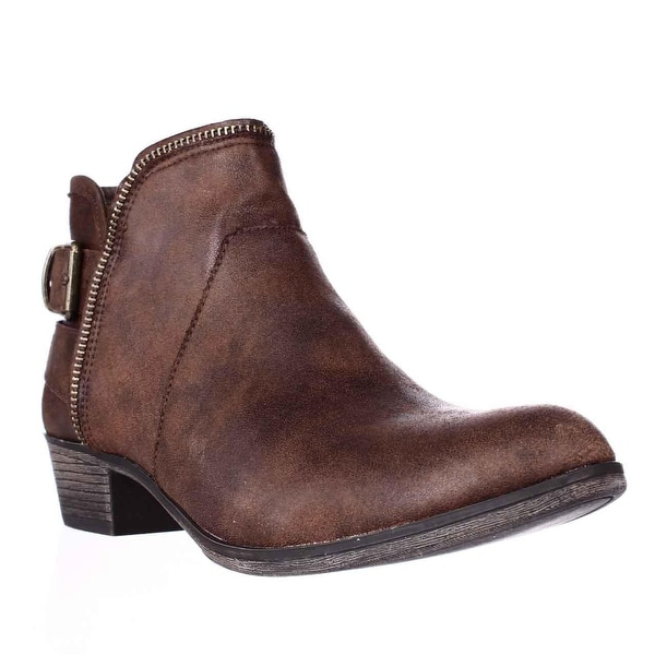 AR35 Edee Ankle Booties, Chocolate
