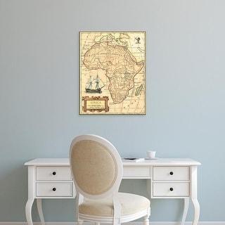 Easy Art Prints Vision Studio's 'Africa Map' Premium Canvas Art