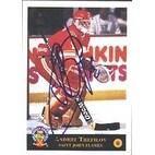 Andrei Trefilov Saint John Flames Calgary Flames 1994 Classic Prospects Autographed Card Rookie C