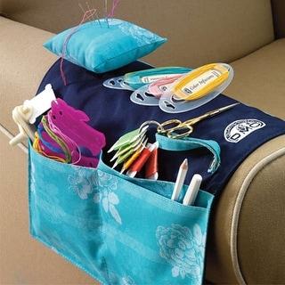"Armchair Needlework Organizer-20""X12.25"" Turquoise"