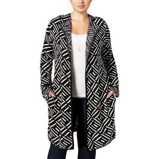 NY Collection Womens Plus Cardigan Sweater Knit Open Front - 2x