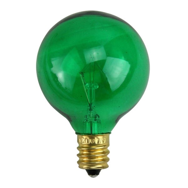 Pack of 25 Incandescent G40 Green Christmas Replacement Bulbs