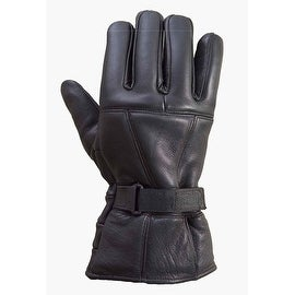 Premium Cowhide Leather Motorcycle Biker Riding/Cruising Winter Gloves Black G2