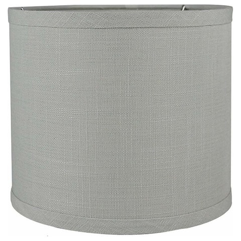 "Classic Drum Smooth Linen Lamp Shade, 8"" to 16"" Bottom Size"