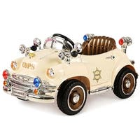 Costway Xmas Gift Kids Ride On Car 6V Battery Powered Classic RC Remote control w/Opening Doors