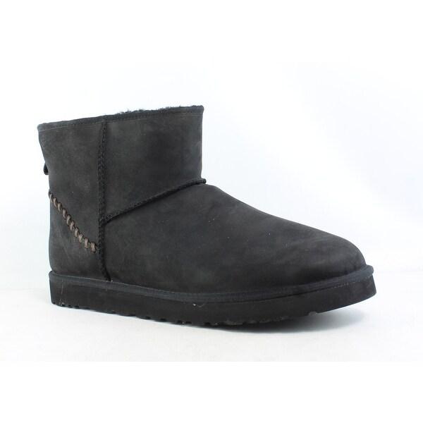e83dc259bb9 Shop UGG Mens Classic Mini Deco Black Snow Boots Size 17 - On Sale ...