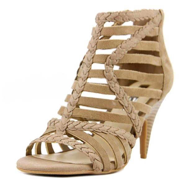 INC International Concepts Geenia Women Open Toe Suede Brown Sandals