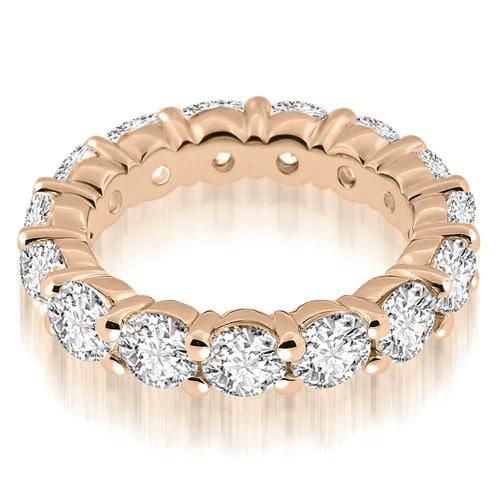 3.00 cttw. 14K Rose Gold Classic Round Cut Diamond Eternity Band Ring