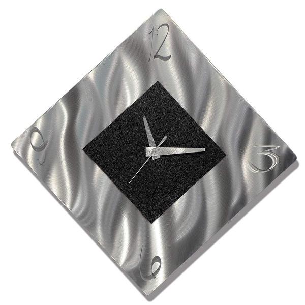Statements2000 Abstract Metal Wall Clock Art Modern Accent Decor by Jon Allen. Opens flyout.