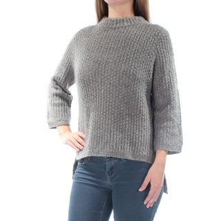 RACHEL ROY $79 Womens New 1027 Gray Slitted Textured Hi-Lo Sweater 2X B+B