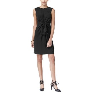 Link to Bar III Women's Party Knotted Cocktail Dress, Black, XS Similar Items in Dresses