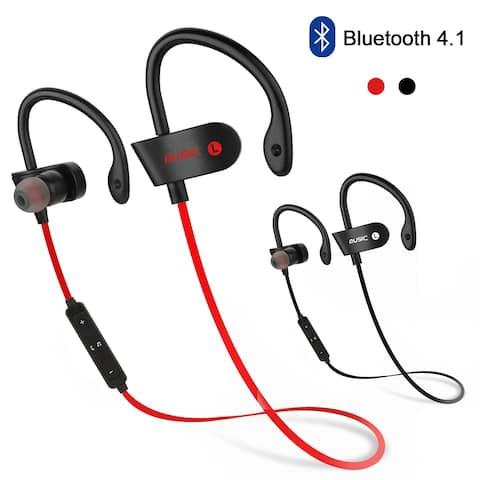 Waterproof Bluetooth Earbuds Beats Sports Wireless Headphones in Ear Headsets,color Red