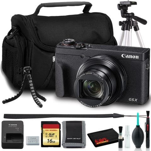 Canon PowerShot G5X Mark II Digital Camera (Intl Model) + Bag + 16GB