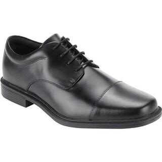Rockport Men's Ellingwood Waterproof Black Full Grain Leather