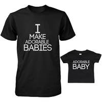 Adorable Baby Dad and Baby Matching T-Shirts