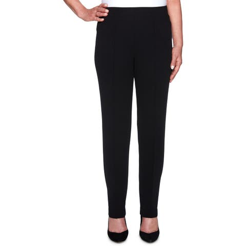 Alfred Dunner Womens Dress Pants Pleated Slim Fit