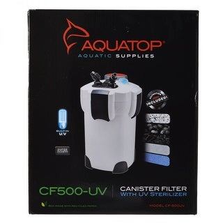 Aquatop UV Canister Filter CF Series CF500-UV - 9 Watts - 525 GPH
