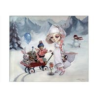 ''Snow'' by Leslie Ditto Fantasy Art Print (14 x 20 in.)
